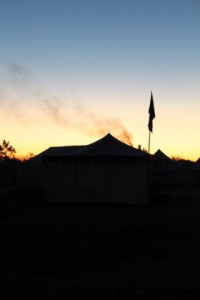 A Cold Morning in Camp