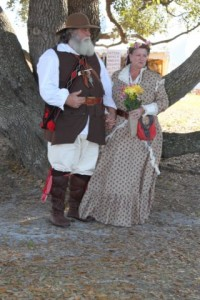 This is your typical 18th century bride and groom