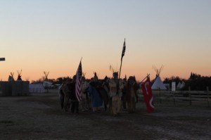 Metis' Indians come to the memorial