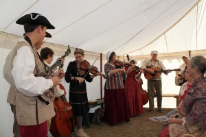 Camp musicians gather for worship