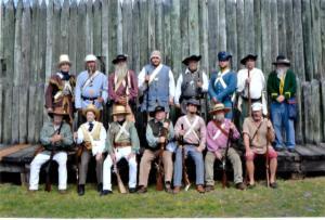 The volunteers defending the fort